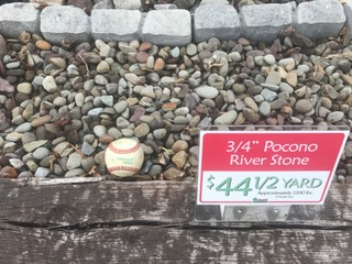 3 4 pocono river stone per 1 2 yard or ton mark 39 s for Landscaping rocks by the ton