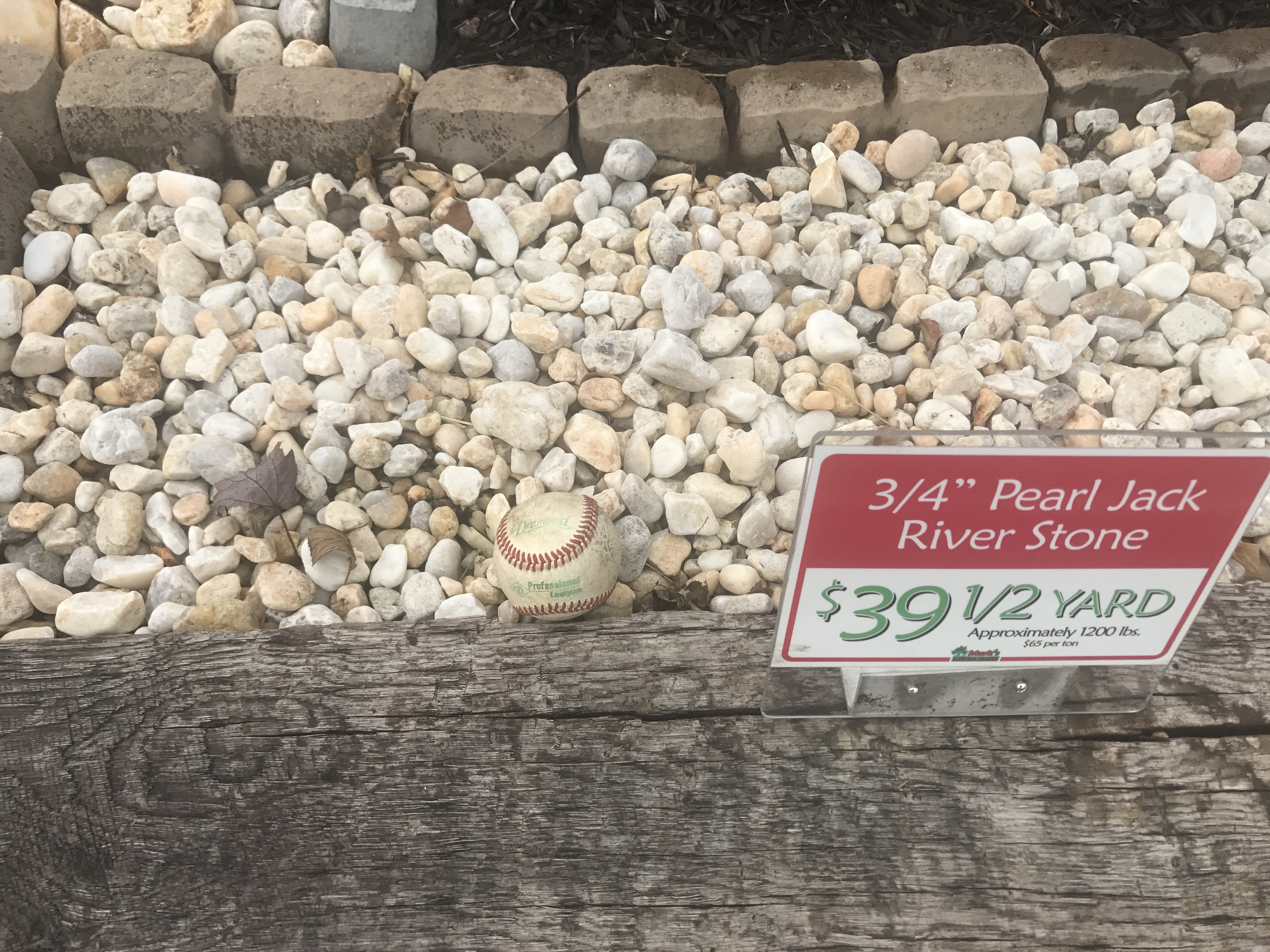 3 4 pearl jack river stone per 1 2 yard or ton mark for Landscaping rocks by the ton